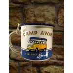 mug tasse émaillé camp away volkswagen