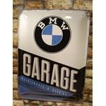 plaque métal garage bmw vintage