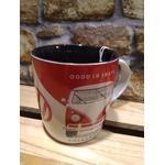 tasse mug combi rouge blanc