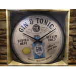 horloge publicitaire gin tonic