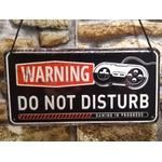 plaque à suspendre warning