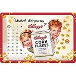 plaque-calendrier-pertuel-vintage-kellogg-s