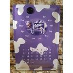 plaque déco calendrier perpétuel chocolat milka