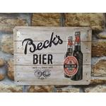plaque métal déco publicitaire bière becks