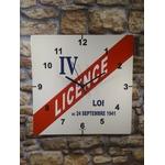 horloge métal déco publicitaire rétro vintage licence IV