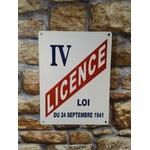 plaque métal déco publicitaire rétro vintage licence IV