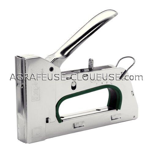 agrafeuse manuelle r34 cloueur rapid 34 en acier pour agrafes fil plat de 6 14 mm disthem. Black Bedroom Furniture Sets. Home Design Ideas