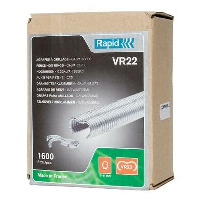 Agrafes grillage VR22 galva en boite de 1600
