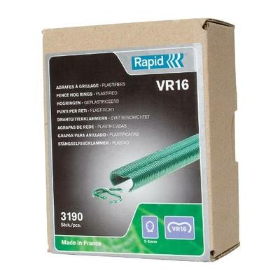 Agrafes à grillage Vertes VR16 boîte de 3190