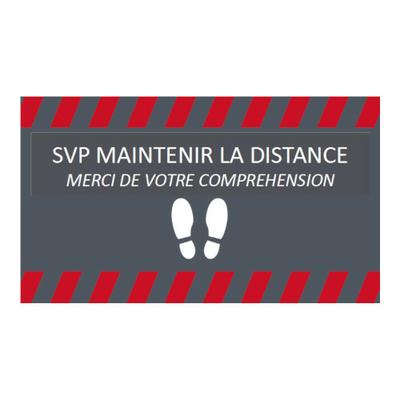 Tapis de distanciation sociale 85 x 150 cm