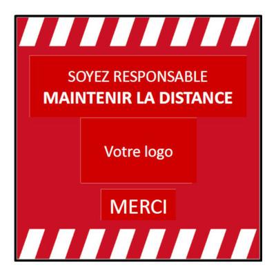 Tapis de distance de sécurité 90 x 90 cm