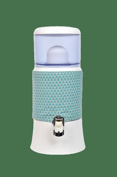 Housse réversible pour fontaine de 7 litres turquoise/doré
