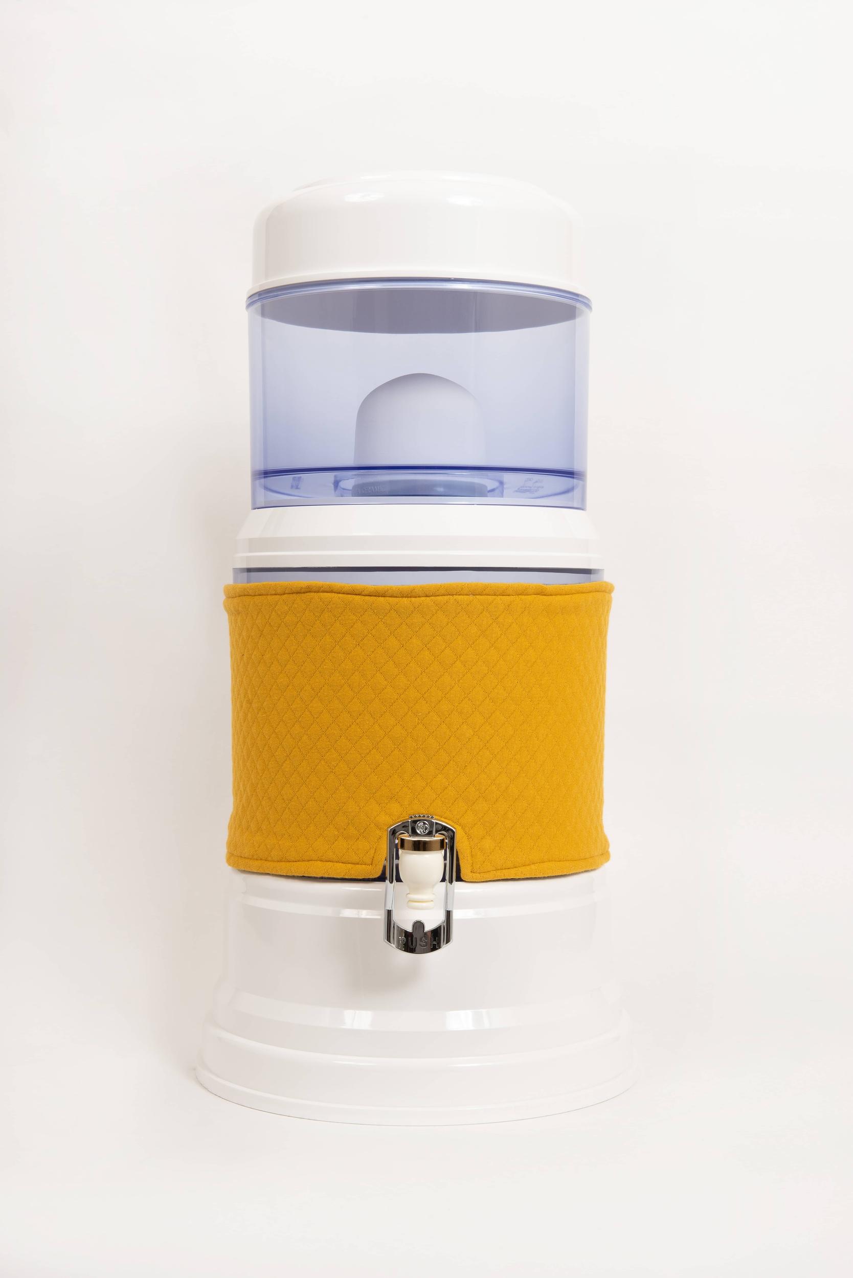 Housse pour fontaine en verre de 7 litres jaune