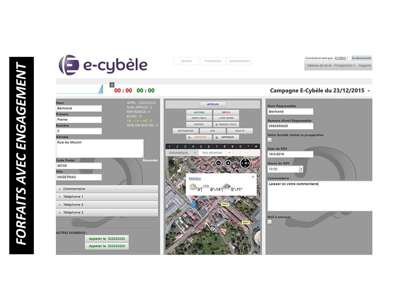 Licence de téléprospection E-Cybèle