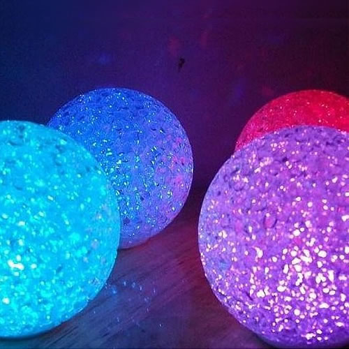 mini boule lumineuse led pile multicouleurs cristal 8cm. Black Bedroom Furniture Sets. Home Design Ideas