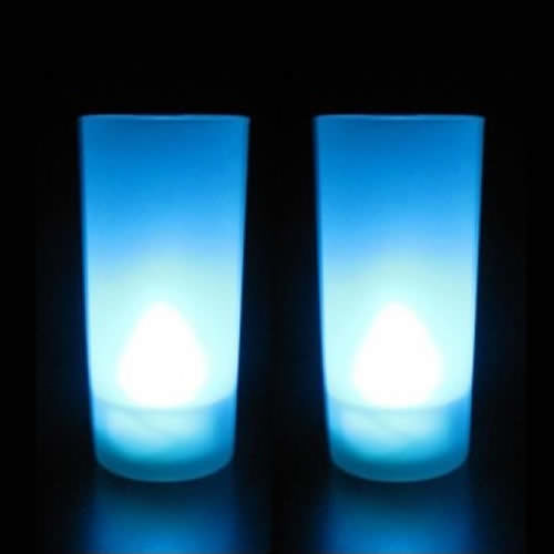 bougie led pile bleue pack de 10 deco lumineuse. Black Bedroom Furniture Sets. Home Design Ideas