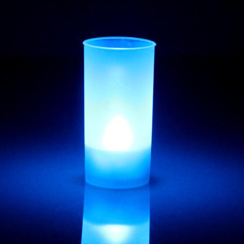 Bougie led pile bleue pack de 10 deco lumineuse for Led a pile pour deco