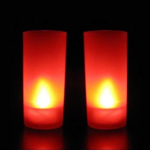 Bougie led pile rouge pack de 10 deco lumineuse for Led a pile pour deco
