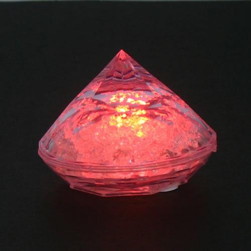 lampion led diamant rouge vendu sur www.deco-lumineuse.fr
