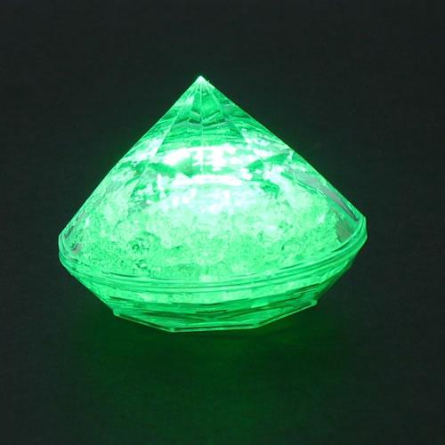 lampion led diamant vert vendu sur www.deco-lumineuse.fr