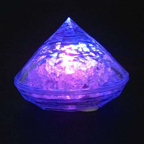 lampion led diamant violet vendu sur www.deco-lumineuse.fr