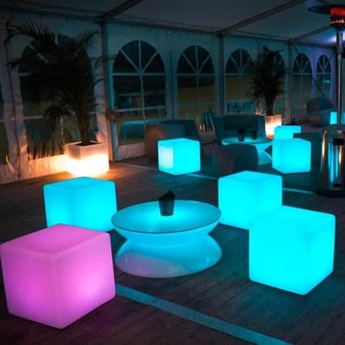 Table Lumineuse Led Lounge Pro Accu Rvb Deco Lumineuse