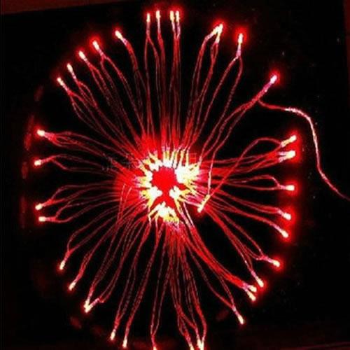guirlande lumineuse piles 40 leds rouges deco lumineuse. Black Bedroom Furniture Sets. Home Design Ideas