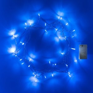 guirlande lumineuse piles 40 leds bleues deco lumineuse. Black Bedroom Furniture Sets. Home Design Ideas