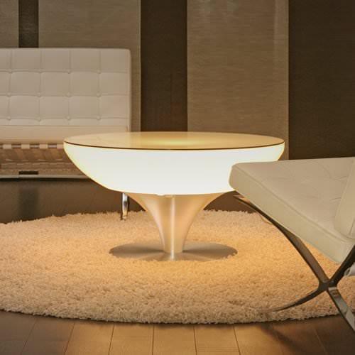 table lumineuse led blanche vendue sur www.deco-lumineuse.fr