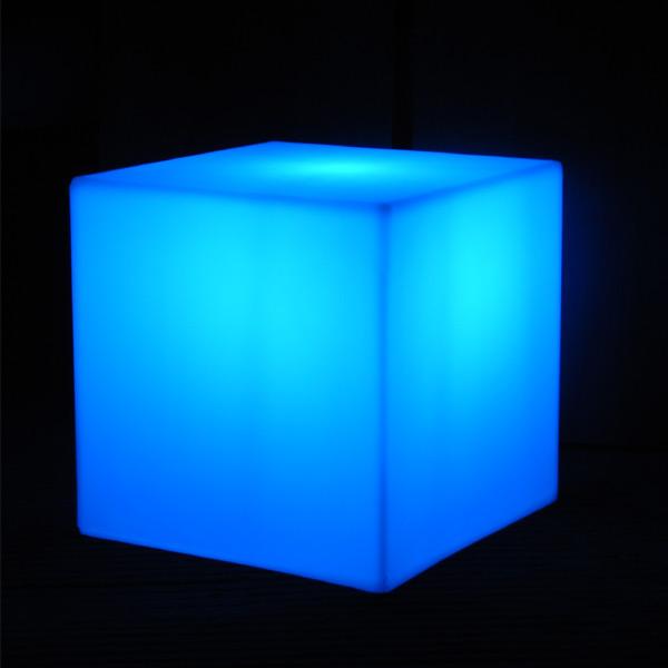 Cube lumineux led sans fil nirvana 25cm deco lumineuse for Centre de table lumineux