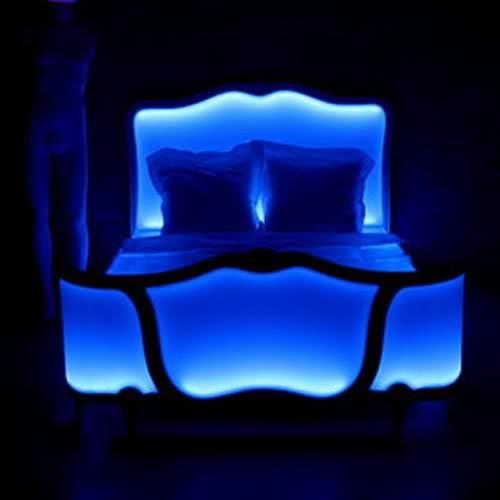 lit lumineux led poesy rvb t l commande deco lumineuse. Black Bedroom Furniture Sets. Home Design Ideas