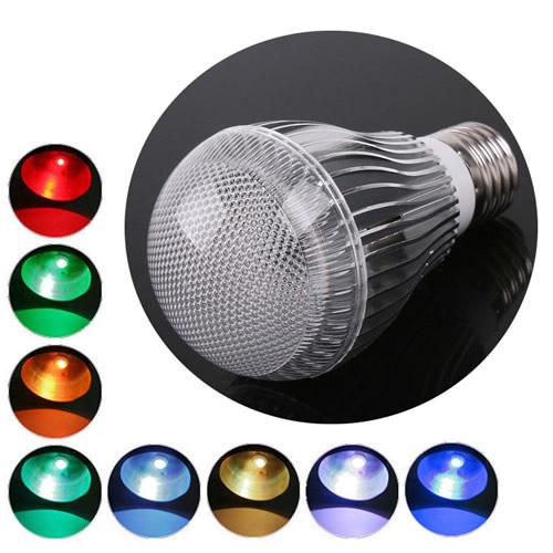 ampoule led e27 rvb avec telecommande deco lumineuse. Black Bedroom Furniture Sets. Home Design Ideas