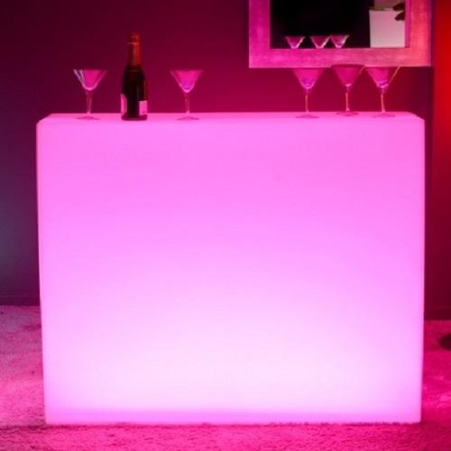 bar lumineux led square deco lumineuse. Black Bedroom Furniture Sets. Home Design Ideas