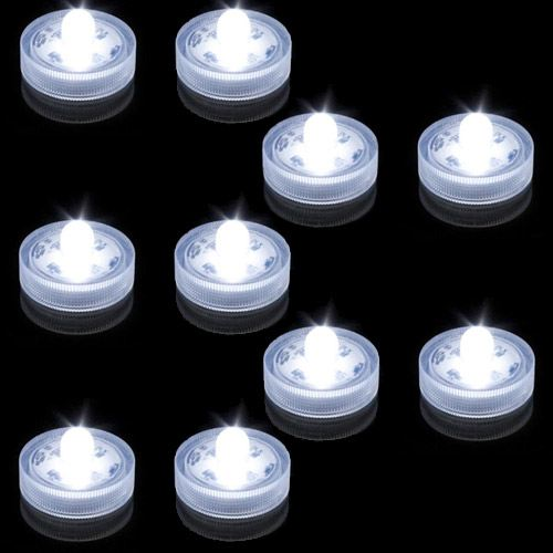 lampion lumineux led submersible blanc pack de 10 deco lumineuse. Black Bedroom Furniture Sets. Home Design Ideas