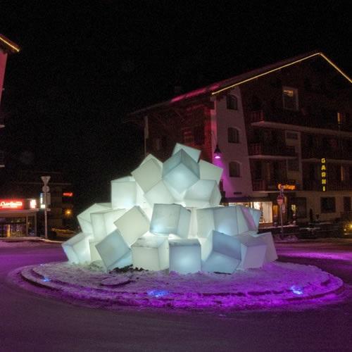 cube lumineux led sans fil nirvana 50cm deco lumineuse. Black Bedroom Furniture Sets. Home Design Ideas