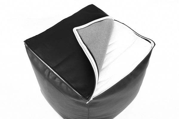 pouf cube big52 simili cuir deco lumineuse. Black Bedroom Furniture Sets. Home Design Ideas
