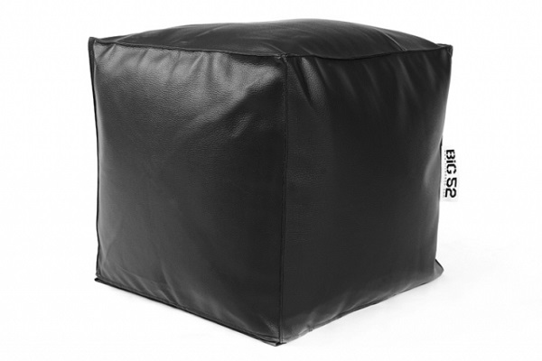 pouf cube big52 simili cuir deco lumineuse. Black Bedroom Furniture Sets. Home Design Ideas