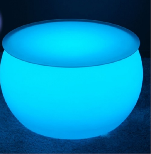 table basse lumineuse led sans fil round deco lumineuse. Black Bedroom Furniture Sets. Home Design Ideas