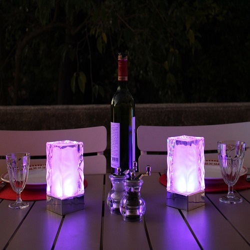 centre de table lumineux led spa pack de 2 deco lumineuse. Black Bedroom Furniture Sets. Home Design Ideas