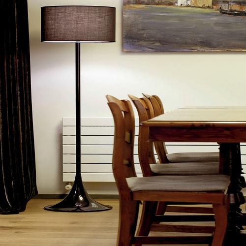 black lampadaire luminaire led deco lumineuse. Black Bedroom Furniture Sets. Home Design Ideas