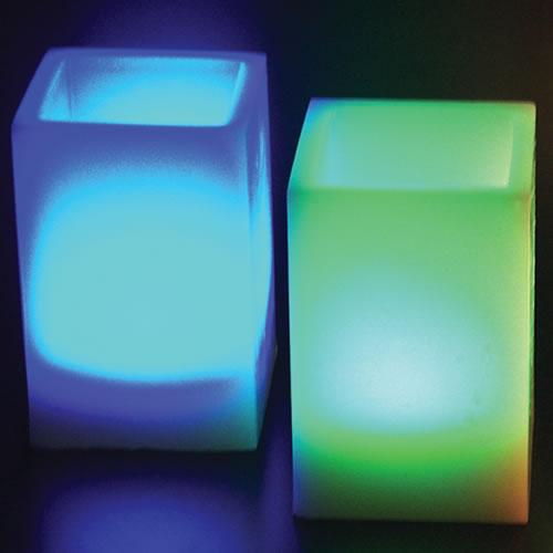 bougie led cire carree rvb deco lumineuse. Black Bedroom Furniture Sets. Home Design Ideas