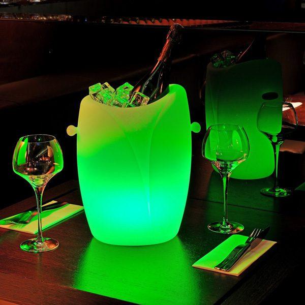 seau a champagne led yolica vert