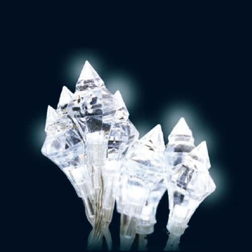 Guirlande lumineuse 20 leds diamant deco lumineuse - Guirlande lumineuse led a piles 10 ampoules ...
