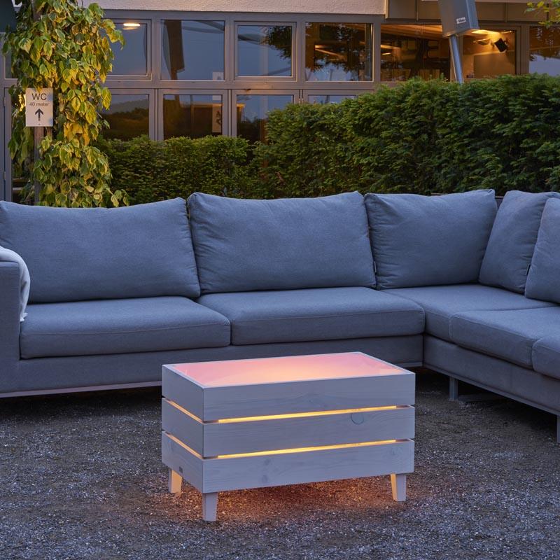 table led rvb exterieur design sans fil lumineuse beach