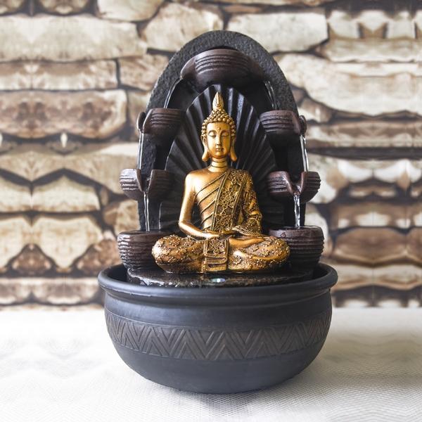 fontaine interieur led bouddha chakra vendue sur deco-lumineuse.fr
