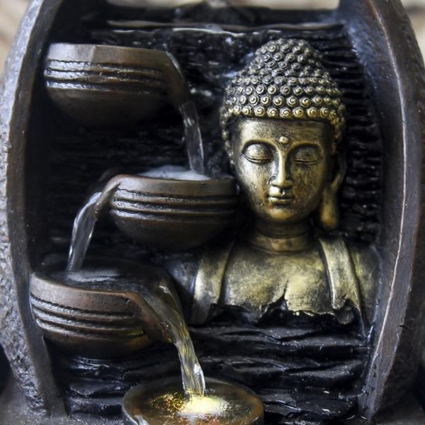 fontaine led interieur zen bouddha zen vendue sur deco-lumineuse.fr