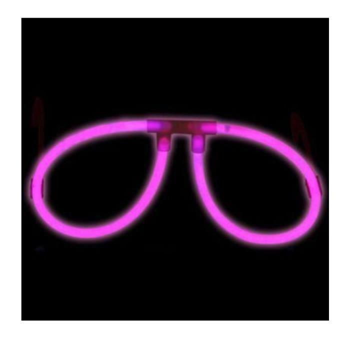 lunettes fluo lumineuses rose vendues sur deco-lumineuse.fr