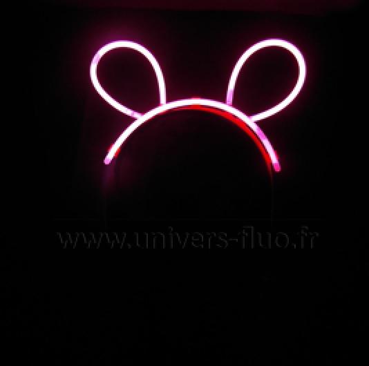 oreilles bunny fluo lumineux rose vendues sur deco-lumineuse.fr