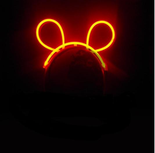 oreilles bunny fluo lumineux rouge vendues sur deco-lumineuse.fr