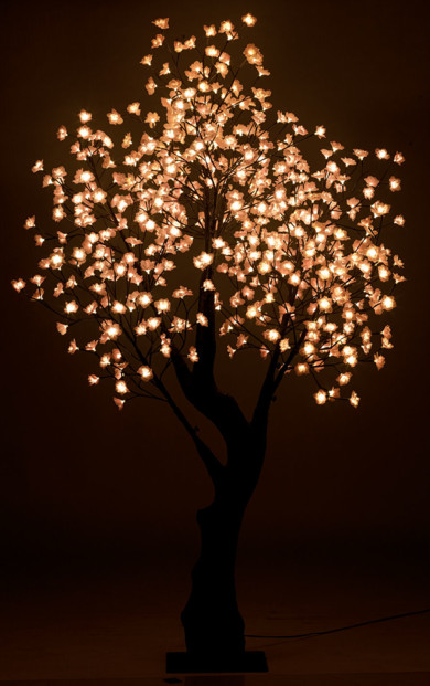 arbre lumineux led cerisier 2.00m 576 led blanc chaud